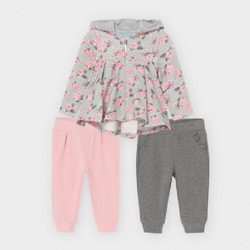 Mushroom Print Hooded Jacket and 2 x Joggers Set 6 Months
